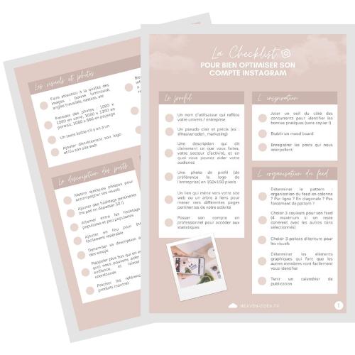 Checklist pour optimiser son compte Instagram
